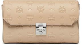 MCM Millie Flap Crossbody In Monogrammed Leather