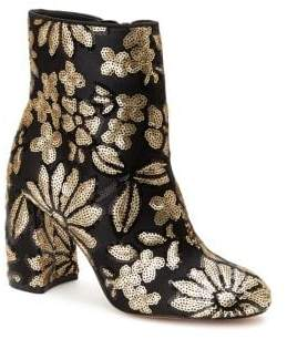 Nanette Lepore Nanette By Lilly Embroidered Textile Booties