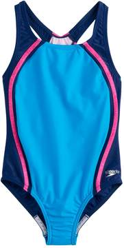 Speedo Girls 7-16 Solid Sport One-Piece Swimsuit