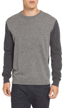 French Connection Men's Colorblock Crewneck Sweater