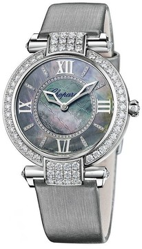 Chopard Imperiale 18k White Gold Case Diamond Bezel Mother of Pearl Dial Ladies Watch