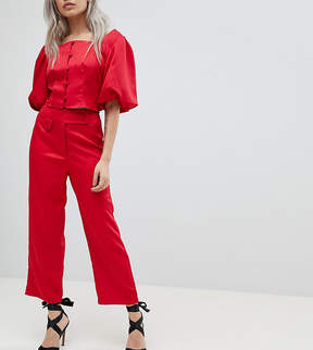 Fashion Union Petite Tailored Pants Two-Piece