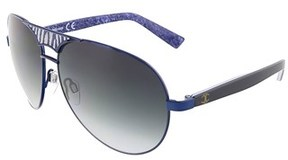 Just Cavalli Jc 510 92w Navy Blue Teardrop Aviator Sunglasses.