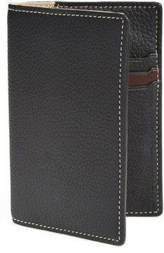 Trask Men's 'Jackson' Norwegian Elk Leather Passport Holder - Black