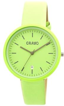Crayo Easy Collection CRACR2406 Unisex Watch with Leather Strap