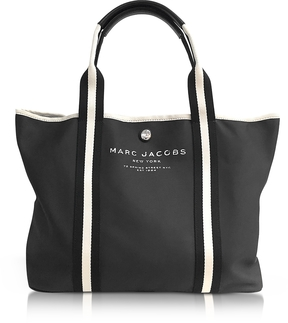 Marc Jacobs Black Canvas EW Tote - BLACK - STYLE