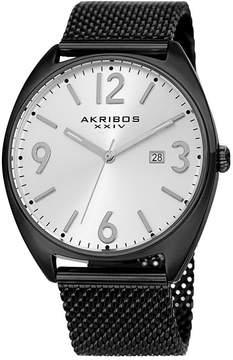 Akribos XXIV Mens Black Strap Watch-A-1026bk