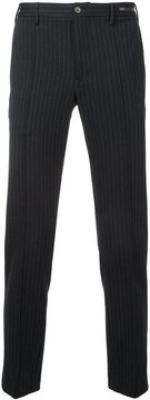 Pt01 striped skinny trousers