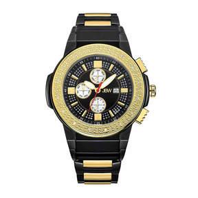 JBW Men's Saxon 0.16 ctw Diamond Black Ion-Plated Stainless Steel Watch JB-6101-K