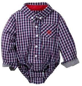 Andy & Evan Check Shirt Bodysuit (Baby Boys)