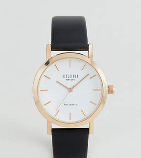 Reclaimed Vintage Inspired Leather Watch In Black 36mm Exclusive to ASOS