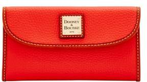 Dooney & Bourke Pebble Grain Continental Clutch Wallet - SALMON - STYLE