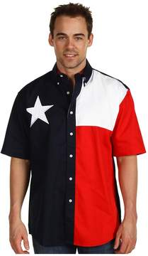 Roper S/S Pieced Texas Flag Shirt Men's Clothing