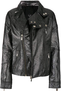 Frankie Morello multi-zip biker jacket