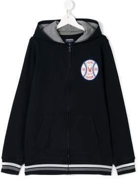 Woolrich Kids TEEN baseball print hoodie