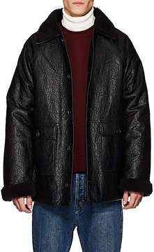 Gosha Rubchinskiy Men's Faux-Leather & Faux-Shearling Coat