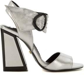 Kat Maconie Ray Silver Leather Heeled Sandal