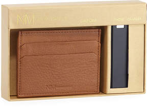 Neiman Marcus Magnetic Wallet and Phone Charger Set, Tan