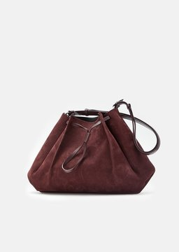 Maison Margiela Nabuk Drawstring Shoulder Bag Bordeaux Size: OS