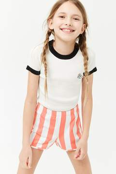 Forever 21 Girls Striped Shorts (Kids)