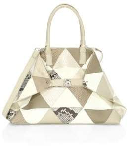Akris Ai Small Patchwork Leather Tote