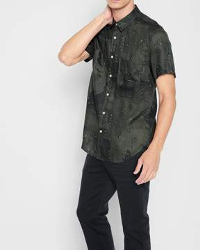 7 For All Mankind Short Sleeve Camo Print Shirt in Tonal Camo