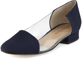 Neiman Marcus Frances Grain Illusion Flat, Blue