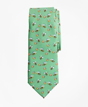 Brooks Brothers Bee and Honey Print Tie