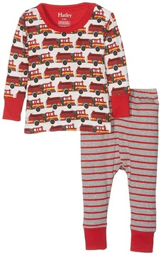Hatley Fire Trucks PJ Set Boy's Pajama Sets