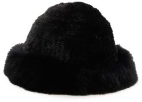 Surell Dyed Mink & Fox Fur Hat
