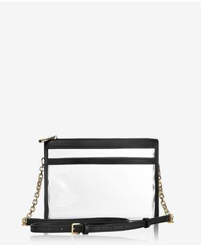 GiGi New York Leigh Anne Crossbody In Clear Bag With Black Vachetta Trim