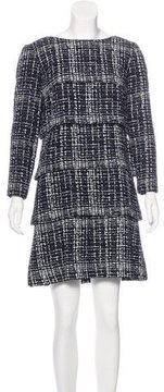 Chanel Tiered Fantasy Tweed Dress