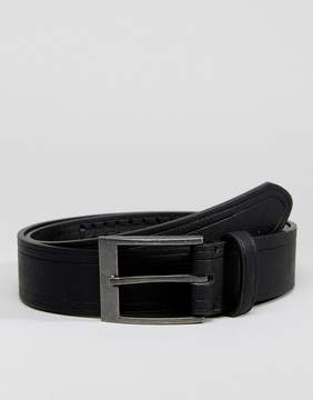 New Look Belt With Weave Detail In Black