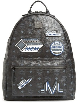 MCM Men's Stark Visetos Patch Faux Leather Backpack - Black