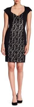Alexia Admor Sheath Lace Combo Dress
