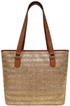 ST. JOHN'S BAY Metallic Straw Tote Bag