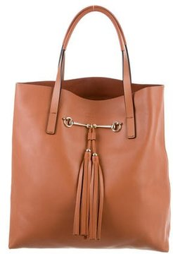Gucci Park Avenue Horsebit Small Tote - BROWN - STYLE