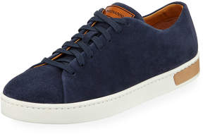 Magnanni Men's Lace-Up Suede Platform Sneakers