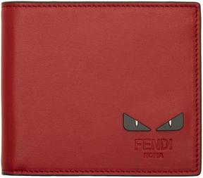 Fendi Red Bag Bugs Wallet