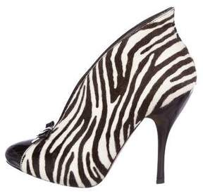 Alaia Printed Ponyhair Booties