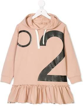 No.21 Kids hooded sweatshirt dress