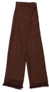Versace Basket Weave Knit Scarf