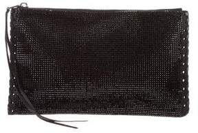 Balmain Crystal-Embellished Leather Pouch