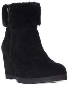 Alfani A35 Oreena Wedge Winter Ankle Booties, Black.