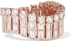 Anita Ko Ava Wave 18-karat Rose Gold Diamond Ring