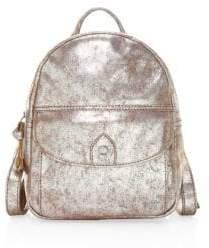 Frye Melissa Distressed Metallic Backpack