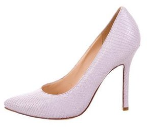 Cole Haan Embossed Pointed-Toe Pumps