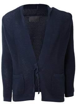 Laneus Men's Blue Cotton Cardigan.
