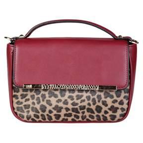 Roberto Cavalli Burgundy Synthetic Handbag