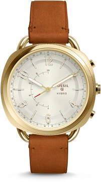 Fossil Hybrid Smartwatch - Q Accomplice Luggage Leather